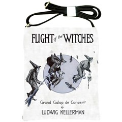 Flight Of The Witches Shoulder Sling Bag from Manda s Macabre Front