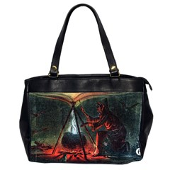Witch s Whirl Waltzes  Oversize Office Handbag (Two Sides) from Manda s Macabre Front