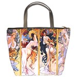 Four Seasons by Alphonse Mucha 1895 Bucket Bag from Manda s Macabre Back