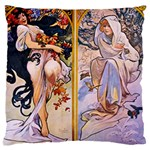 Four Seasons by Alphonse Mucha 1895 Large Cushion Case (Two Sides) from Manda s Macabre Back