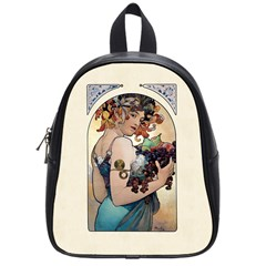 Fruit by Alfons Mucha 1897 School Bag (Small) from Manda s Macabre Front