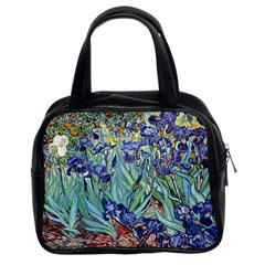 Irises by Vincent van Gogh 1898 Classic Handbag (Two Sides) from Manda s Macabre Front