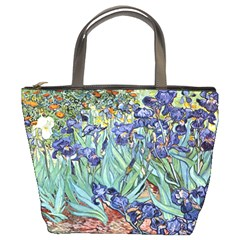Irises by Vincent van Gogh 1898 Bucket Bag from Manda s Macabre Front