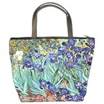 Irises by Vincent van Gogh 1898 Bucket Bag from Manda s Macabre Back
