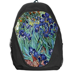 Irises by Vincent van Gogh 1898 Backpack Bag from Manda s Macabre Front