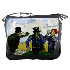 The Drinkers By Vincent Van Gogh 1890 Messenger Bag from Manda s Macabre Front
