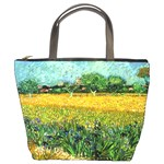 View Of Arles With Irises In The Foreground By Vincent Van Gogh 1888  Bucket Bag from Manda s Macabre Front