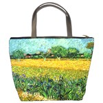 View Of Arles With Irises In The Foreground By Vincent Van Gogh 1888  Bucket Bag from Manda s Macabre Back