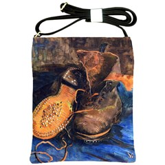 A Pair Of Shoes By Vincent Van Gogh 1887 Shoulder Sling Bag from Manda s Macabre Front