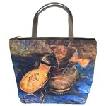A Pair Of Shoes By Vincent Van Gogh 1887 Bucket Bag from Manda s Macabre Front