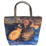 A Pair Of Shoes By Vincent Van Gogh 1887 Bucket Bag from Manda s Macabre Back