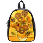 Vase With Fifteen Sunflowers By Vincent Van Gogh 1888 School Bag (Small)