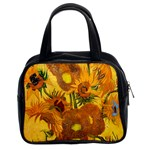 Vase With Fifteen Sunflowers By Vincent Van Gogh 1888 Classic Handbag (Two Sides) from Manda s Macabre Front