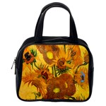 Vase With Fifteen Sunflowers By Vincent Van Gogh 1888 Classic Handbag (Two Sides) from Manda s Macabre Back