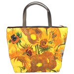 Vase With Fifteen Sunflowers By Vincent Van Gogh 1888 Bucket Bag from Manda s Macabre Back