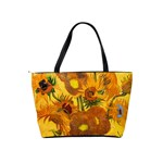 Vase With Fifteen Sunflowers By Vincent Van Gogh 1888 Classic Shoulder Handbag from Manda s Macabre Back