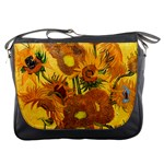 Vase With Fifteen Sunflowers By Vincent Van Gogh 1888 Messenger Bag