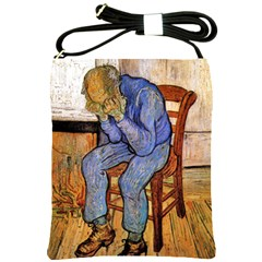 Old Man In Sorrow By Vincent Van Gogh 1890 Shoulder Sling Bag from Manda s Macabre Front