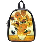 Vase With Fifteen Sunflowers By Vincent Van Gogh 1889 School Bag (Small)