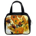 Vase With Fifteen Sunflowers By Vincent Van Gogh 1889 Classic Handbag (Two Sides) from Manda s Macabre Front