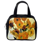 Vase With Fifteen Sunflowers By Vincent Van Gogh 1889 Classic Handbag (Two Sides) from Manda s Macabre Back