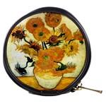 Vase With Fifteen Sunflowers By Vincent Van Gogh 1889 Mini Makeup Bag