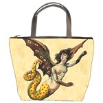 Mythology Educational Plate Bucket Bag from Manda s Macabre Front