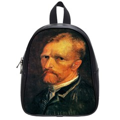 Self Portrait By Vincent Van Gogh 1886 School Bag (Small) from Manda s Macabre Front
