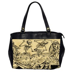 Dance Of Death By Michael Wolgemut 1493 Oversize Office Handbag (Two Sides) from Manda s Macabre Front