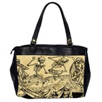 Dance Of Death By Michael Wolgemut 1493 Oversize Office Handbag (Two Sides) from Manda s Macabre Back