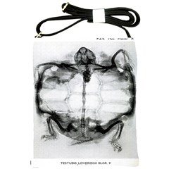 Vintage X Ray Of Turtle  Shoulder Sling Bag from Manda s Macabre Front