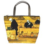 The Garden Of Death By Hugo Simberg 1896 Bucket Bag from Manda s Macabre Front