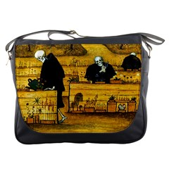 The Garden Of Death By Hugo Simberg 1896 Messenger Bag from Manda s Macabre Front