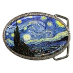 Starry Night By Vincent Van Gogh 1889 Belt Buckle