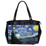 Starry Night By Vincent Van Gogh 1889 Oversize Office Handbag (Two Sides) from Manda s Macabre Front