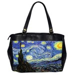 Starry Night By Vincent Van Gogh 1889 Oversize Office Handbag (Two Sides) from Manda s Macabre Back