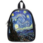 Starry Night By Vincent Van Gogh 1889 School Bag (Small)