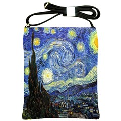 Starry Night By Vincent Van Gogh 1889 Shoulder Sling Bag from Manda s Macabre Front