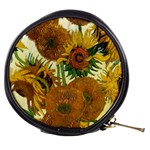 Vase With Fifteen Sunflowers By Vincent Van Gogh 1888 Mini Makeup Bag from Manda s Macabre Front