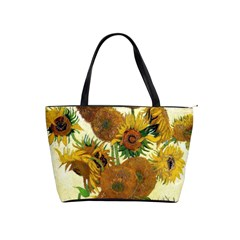 Vase With Fifteen Sunflowers By Vincent Van Gogh 1888 Classic Shoulder Handbag from Manda s Macabre Front