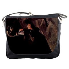 The Bewitched Man By Francisco Goya 1798 Messenger Bag from Manda s Macabre Front