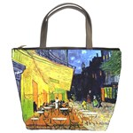 Cafe Terrace At Night By Vincent Van Gogh 1888  Bucket Bag