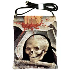 The Crucifixion By Fra Angelico 1420 Shoulder Sling Bag from Manda s Macabre Front