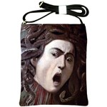 The Head Of The Medusa By Michelangelo Caravaggio 1590 Shoulder Sling Bag