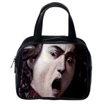 The Head Of The Medusa By Michelangelo Caravaggio 1590 Classic Handbag (Two Sides) from Manda s Macabre Back
