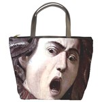 The Head Of The Medusa By Michelangelo Caravaggio 1590 Bucket Bag