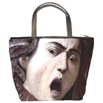 The Head Of The Medusa By Michelangelo Caravaggio 1590 Bucket Bag from Manda s Macabre Back