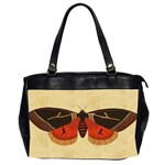 Vintage Moth  Oversize Office Handbag (Two Sides) from Manda s Macabre Front