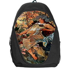 Autumn By Alfons Mucha 1896 Backpack Bag from Manda s Macabre Front