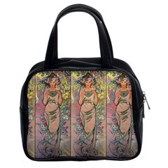 Die Rose By Alfons Mucha 1898 Classic Handbag (Two Sides) from Manda s Macabre Front